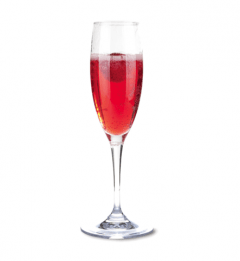 GLASS OF KIR ROYALE/PROSECCO